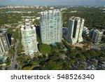 aerial image of buildings in... | Shutterstock . vector #548526340