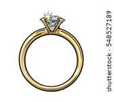 golden engagement ring with a... | Shutterstock .eps vector #548527189