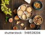 cookies with grapes  fig ... | Shutterstock . vector #548528206