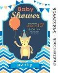 baby shower invitation card | Shutterstock .eps vector #548529958