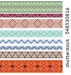 set of color ornate borders.... | Shutterstock .eps vector #548530816