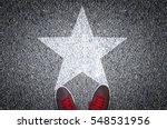 sneakers on asphalt road with...   Shutterstock . vector #548531956