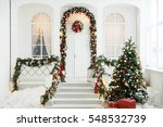 new year's decor. a white... | Shutterstock . vector #548532739