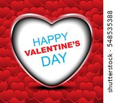 vector card for valentines... | Shutterstock .eps vector #548535388