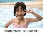 cute little asian girl having... | Shutterstock . vector #548536504