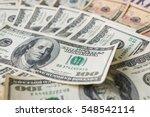close up heap of dollars ... | Shutterstock . vector #548542114