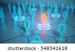 3d Render Human Social Network...