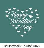 happy valentine's day vector... | Shutterstock .eps vector #548544868