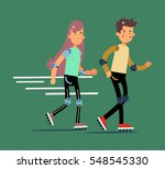 vector flat people ... | Shutterstock .eps vector #548545330