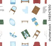 furniture pattern icons in... | Shutterstock .eps vector #548547850