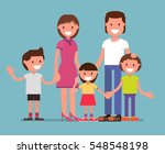 happy family  mom  dad  son ... | Shutterstock .eps vector #548548198
