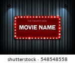 theater sign on curtain and... | Shutterstock .eps vector #548548558