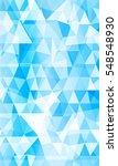 blue background of triangular... | Shutterstock . vector #548548930