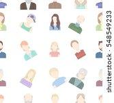 avatar pattern icons in cartoon ... | Shutterstock .eps vector #548549233