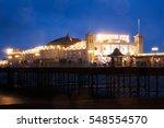 Brighton Pier At Night  Sussex...