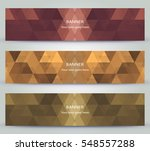various  color polygonal... | Shutterstock .eps vector #548557288