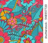 zentangle abstract flower....   Shutterstock .eps vector #548557720