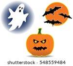 halloween icons halloween clip...   Shutterstock .eps vector #548559484