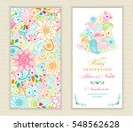 wedding invitation card ethnic... | Shutterstock .eps vector #548562628