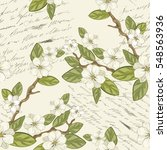 seamless floral background.... | Shutterstock .eps vector #548563936