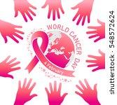 world cancer day vector | Shutterstock .eps vector #548572624