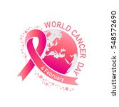world cancer day vector | Shutterstock .eps vector #548572690