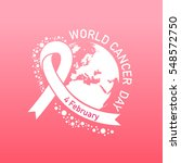 world cancer day vector | Shutterstock .eps vector #548572750