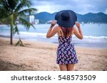 fashion style portrait of young ... | Shutterstock . vector #548573509
