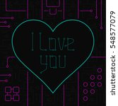 i love you day greeting card.... | Shutterstock .eps vector #548577079