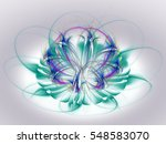 colored abstract fractal... | Shutterstock . vector #548583070