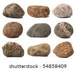 rocks isolated on white | Shutterstock . vector #54858409