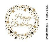 happy birthday background.... | Shutterstock .eps vector #548591533