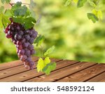 red grape bunch with blurry... | Shutterstock . vector #548592124