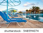 nice view on the swimming pool... | Shutterstock . vector #548594074