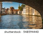 Brugges Canal And Bridge
