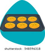 bun sheet pan with cookies....   Shutterstock .eps vector #548596318