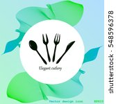 cutlery vector icon | Shutterstock .eps vector #548596378