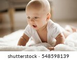 portrait of small baby. kid is... | Shutterstock . vector #548598139