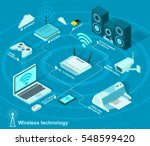wireless technology and... | Shutterstock .eps vector #548599420