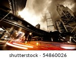 fast moving cars at night | Shutterstock . vector #54860026