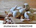 Garlic Cloves And Garlic Bulb...