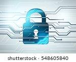 abstract digital concept of... | Shutterstock . vector #548605840