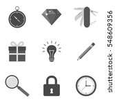 set of icons and symbols in...
