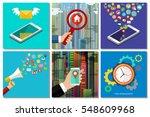 social media  technology ... | Shutterstock .eps vector #548609968