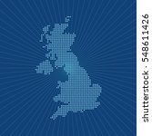 map of united kingdom | Shutterstock .eps vector #548611426