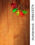 pacifier toy on wooden...   Shutterstock . vector #548615374