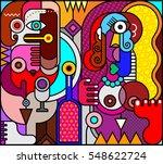 two beautiful women with bottle ...   Shutterstock . vector #548622724