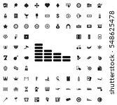 equalizer icon illustration... | Shutterstock .eps vector #548625478