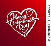 happy valentines day typography ...   Shutterstock .eps vector #548628223