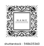 vector. logo in a flower box.... | Shutterstock .eps vector #548635360